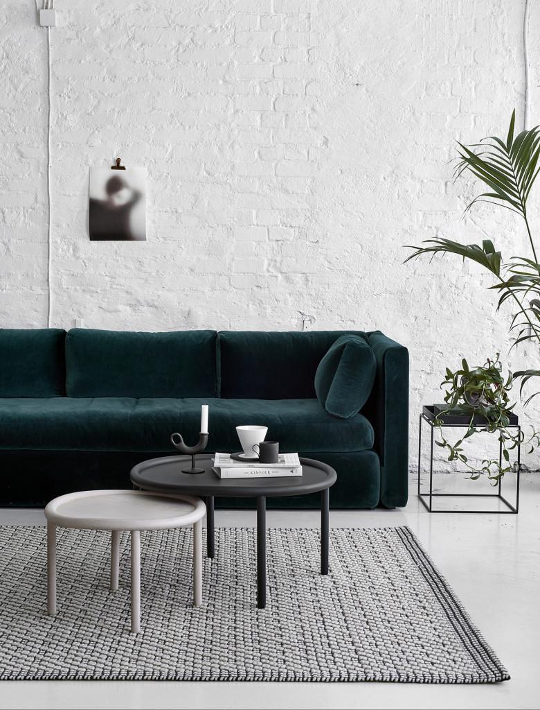 Inredningstrender 2017, sammetssoffa, sammet, grön sammetssoffa, petroleum färgad soffa