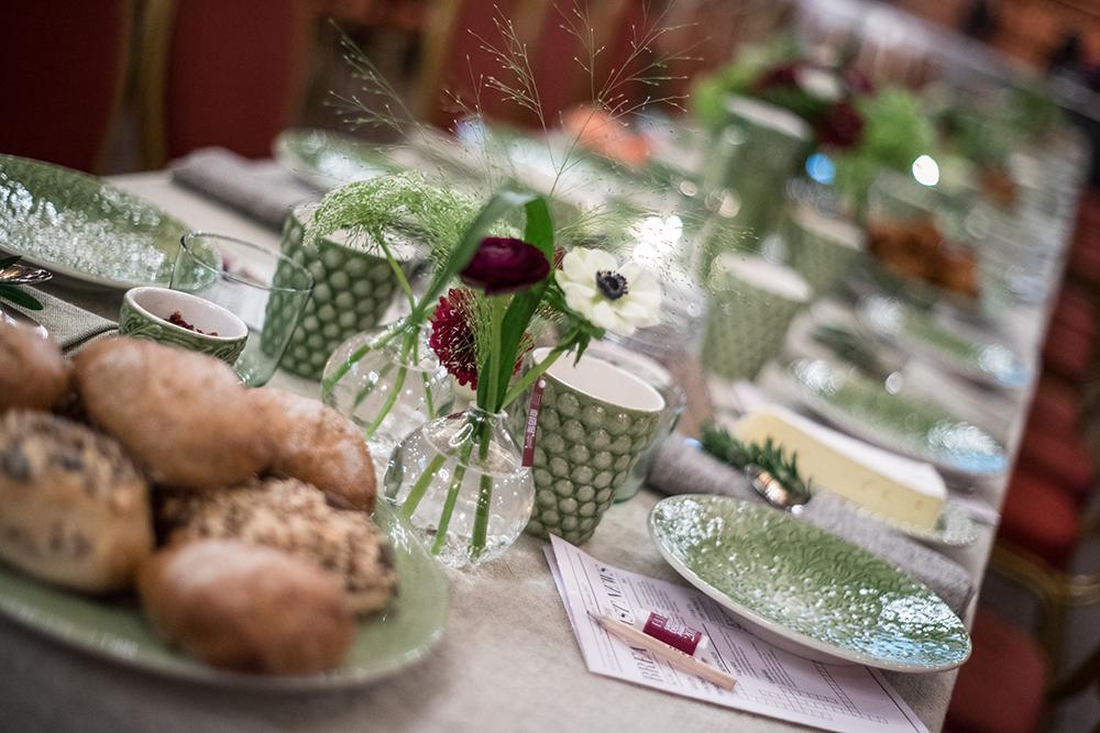 Linnums nya dukar och servetter och glas från ikea
