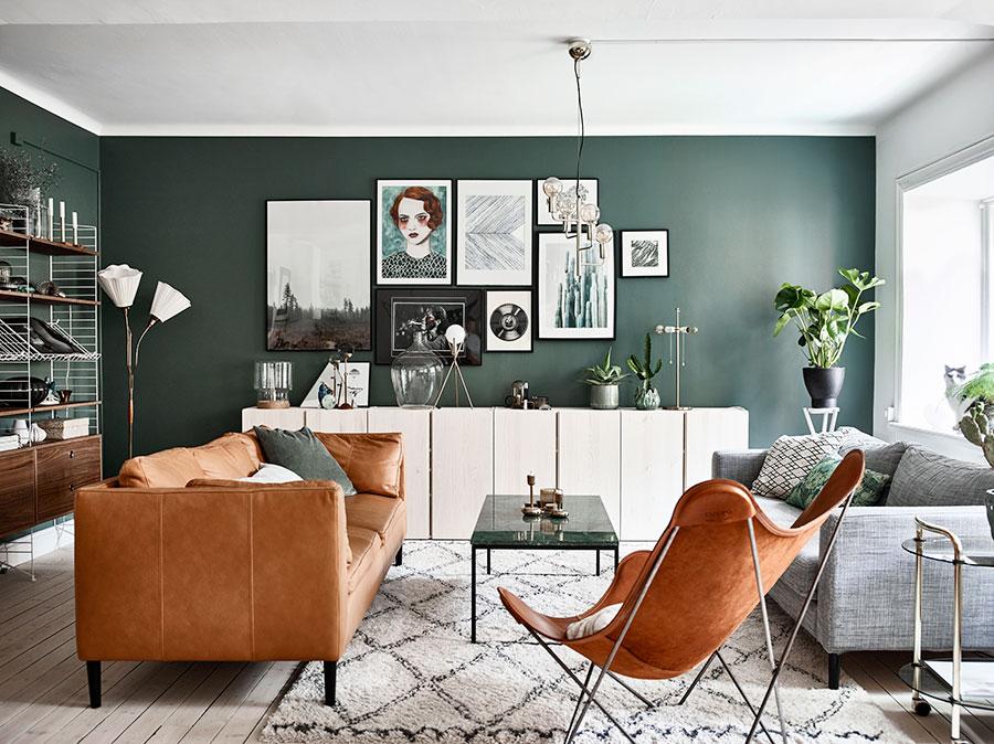 gröna väggar inredningsinspo