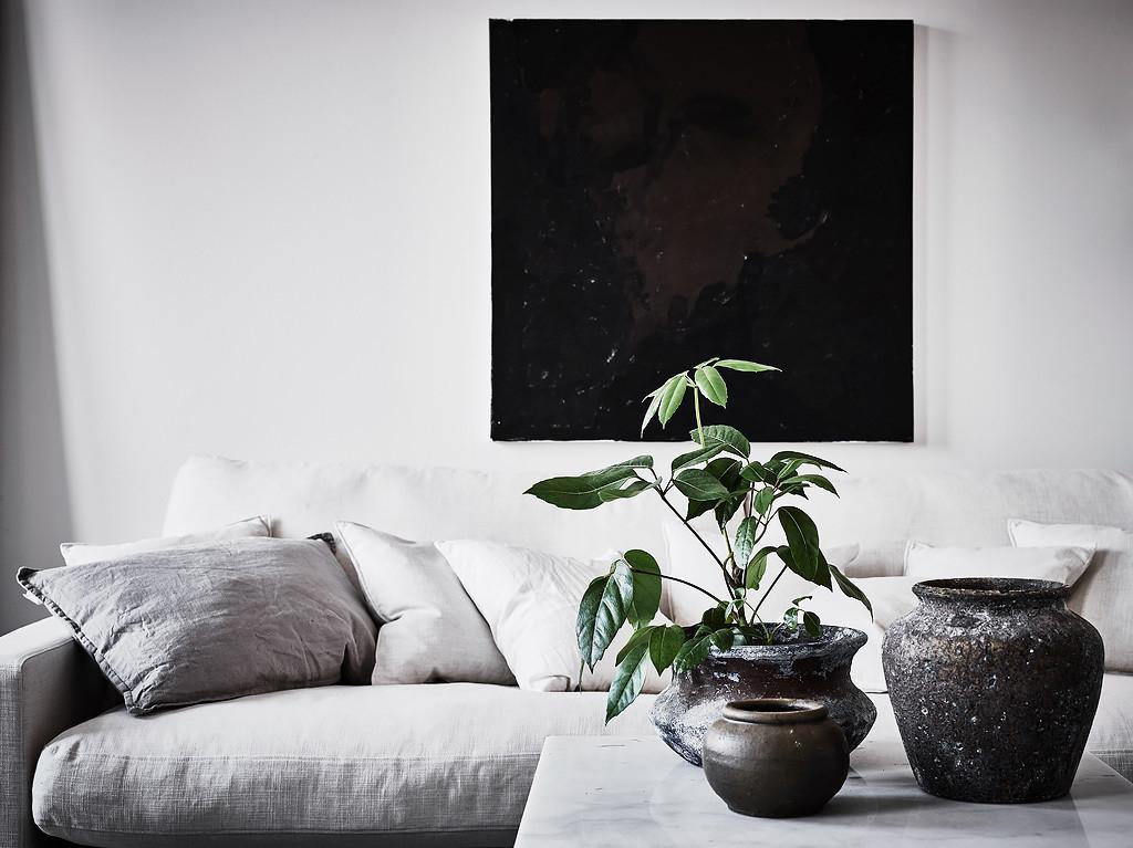 Inredning med vit bas snyggt stylat med fina detaljer