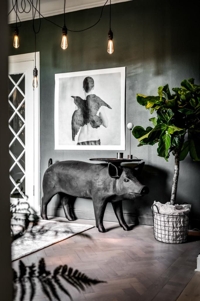 grönt kök, gröna väggar, inredningsblogg